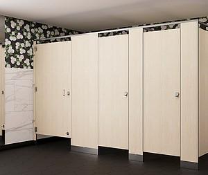 Bradley's New Phenolic No-Site Restroom Partitions