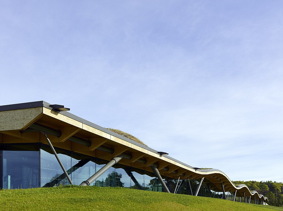 Wooden roof of Macallan Distillery resonates authenticity and honesty