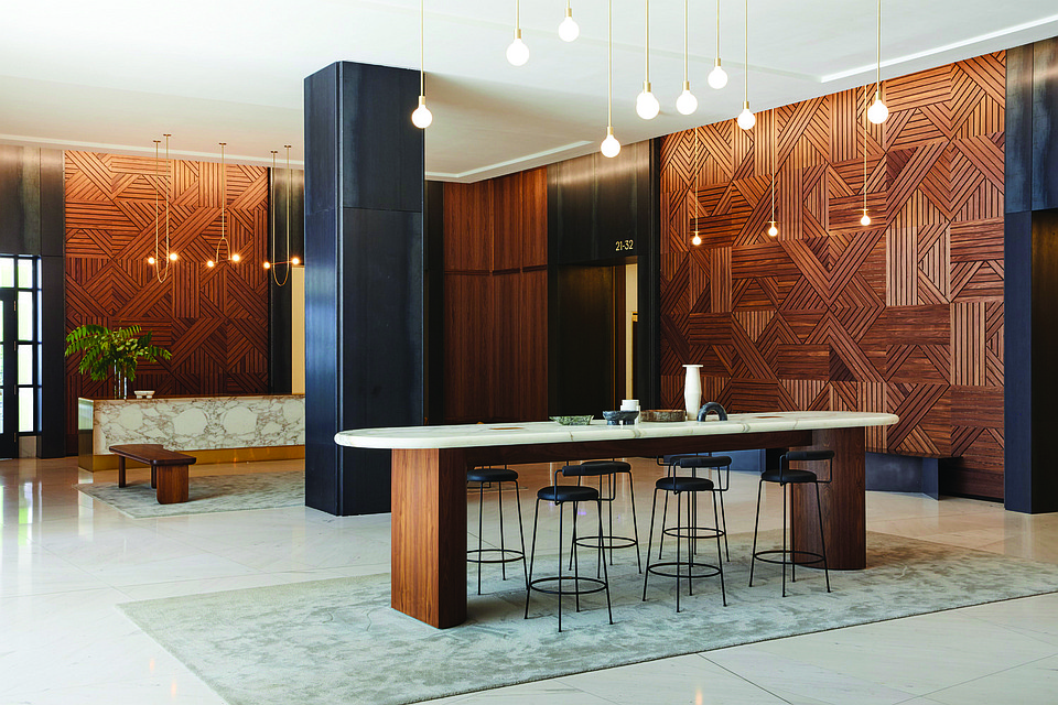 Case Study: Fino Transforms Outdated Lobby Into A Sophisticated Space for Work and Leisure