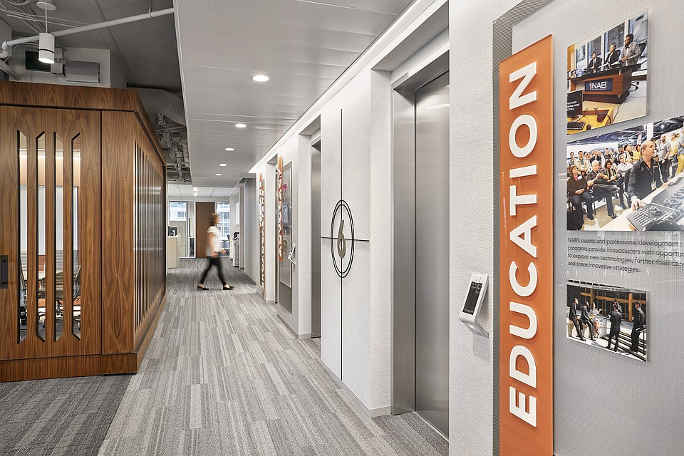 National Association of Broadcasters Headquarters Features Rockfon Ceiling Systems