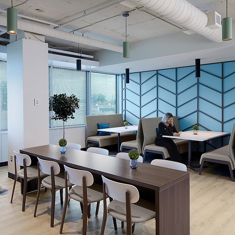 Versatile lighting creates fun, dynamic employee spaces at union headquarters